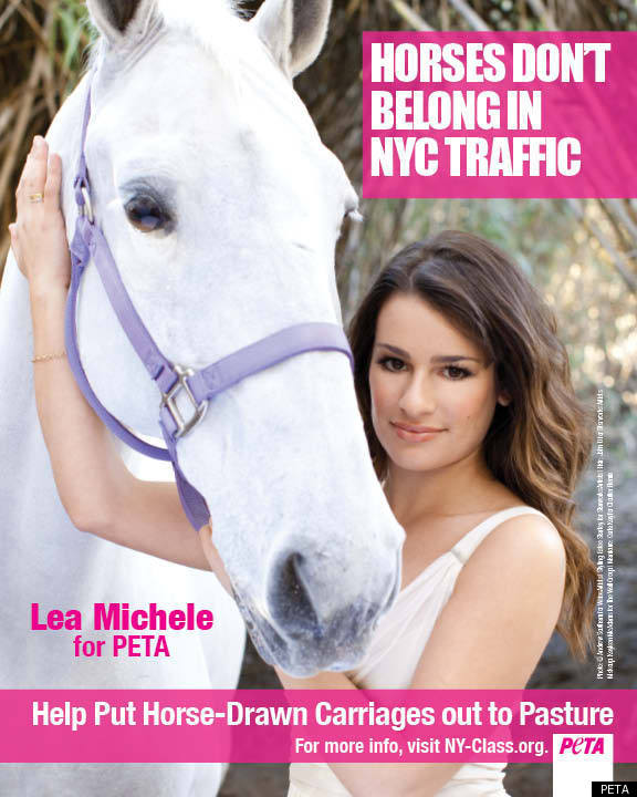 Glee's Lea Michele Joins PETA In Fight Against New York Carriage Horses