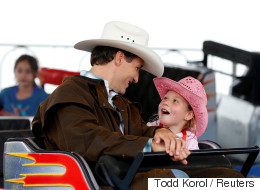 Trudeau And Ella-Grace At Calgary Stampede Are Too Stinking Cute
