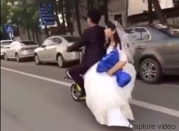 Elle se souviendra longtemps du jour de son mariage... (VIDÉO)