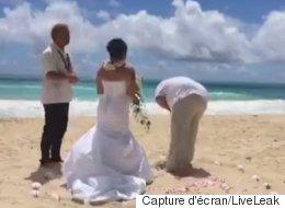 Un incident tout à fait approprié s'est produit pendant ce mariage (VIDÉO)