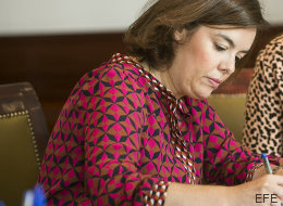 Bromas en Twitter con el vestido de Soraya Sáenz de Santamaría