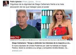 Podemos critica el tratamiento de Espejo Público al diputado Cañamero