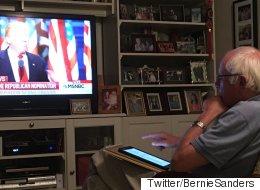 트럼프 연설을 지켜본 샌더스의 폭풍트윗 (모음)