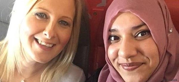 Si spaventa per la presenza della passeggera musulmana. Ma poi...