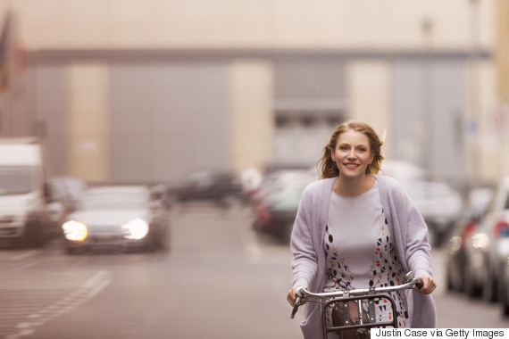woman cycling
