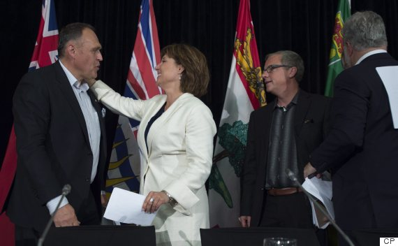 christy clark darrell pasloski premiers meeting