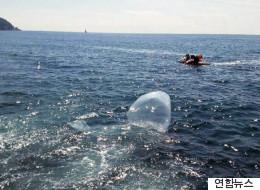 해운대 앞바다에 '삐라 운반용' 풍선이 떨어졌다