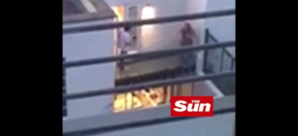 Une violente dispute de Lindsay Lohan et son fiancé a été filmée