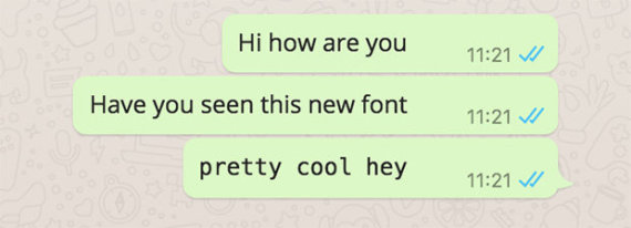 whatsapp new font