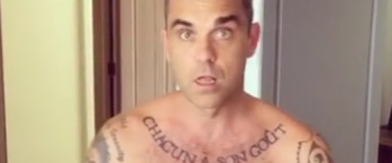 ROBBIE WILLIAMS NACKT