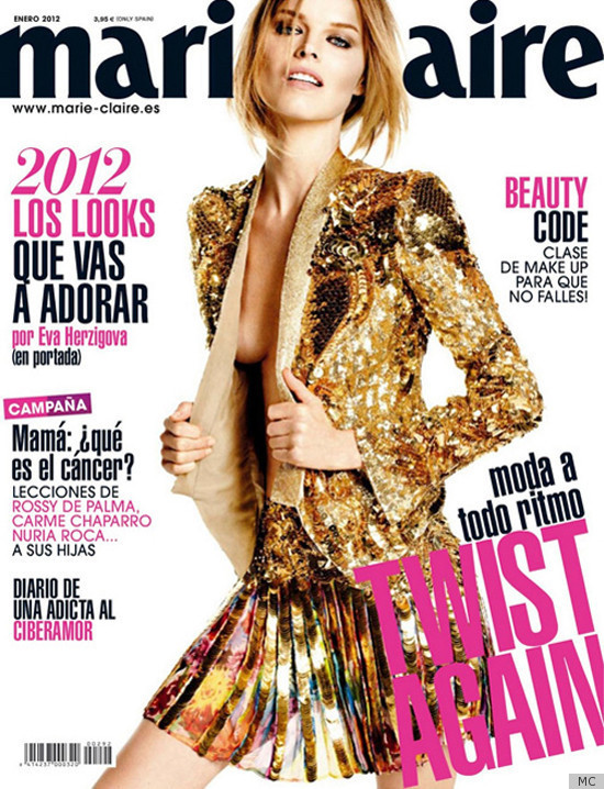 Eva Herzigova's Marie Claire Spain Cover Features Dose Of Side Boob ...