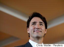 Shirtless Trudeau Photobombs B.C. Wedding