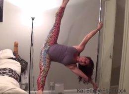 Enceinte, elle fait du pole dance alors que ses contractions ont commencé