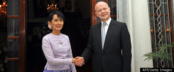 Aung San Suu Kyi William Hague