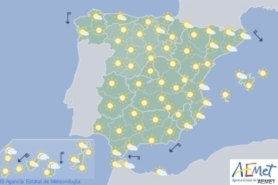 mapa de españa temperaturas agosto