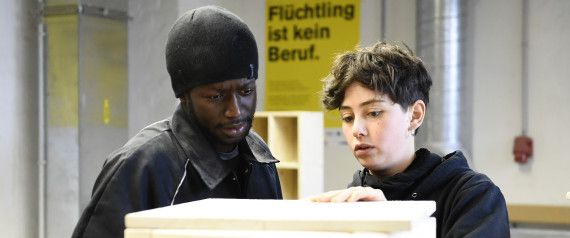 REFUGEE WORKING GERMANY