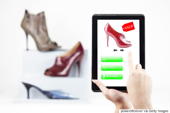 tablet online shopping shoes