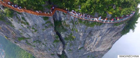 「世界最長」中国のガラス橋が10日あまりで営業停止(画像) スマホ版を表示します