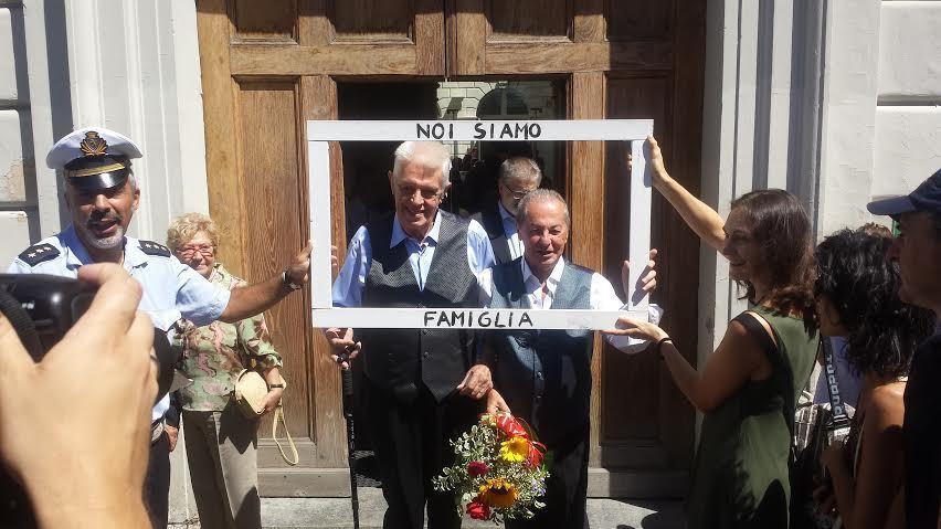 Unioni civili: a Torino le nozze di Franco e Gianni