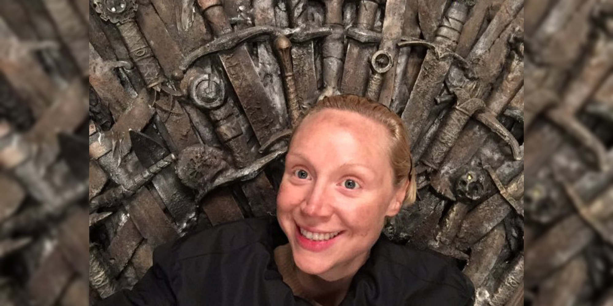 pour game of thrones saison 7 gwendoline christie brienne se verrait bien sur le tr ne de fer. Black Bedroom Furniture Sets. Home Design Ideas