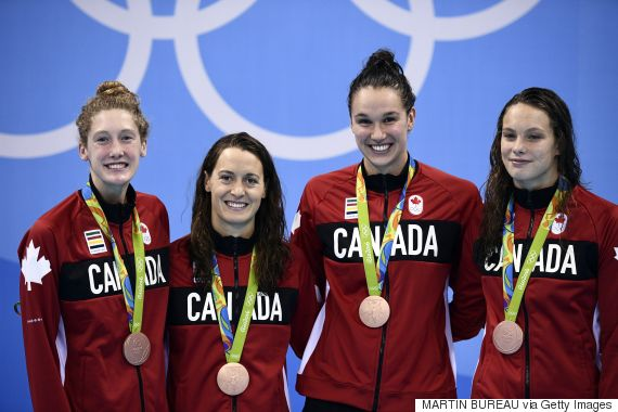 canada womens bronze swimming relay
