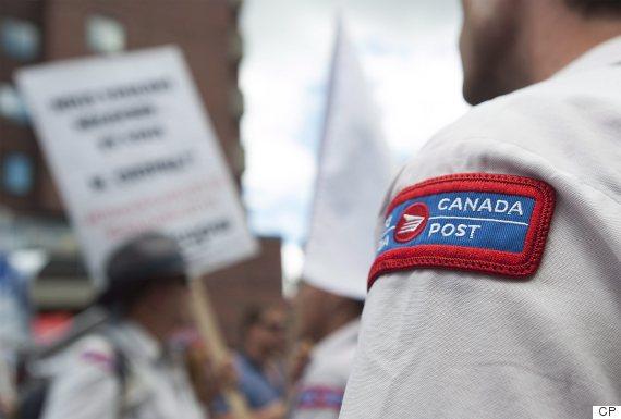 canada post protest