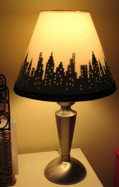 Craft Of The Day Skyline Lampshade Huffpost