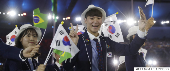 rio olympic opening korea
