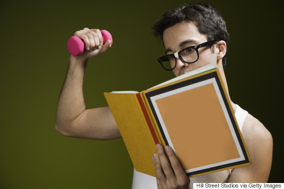 nerd exercising