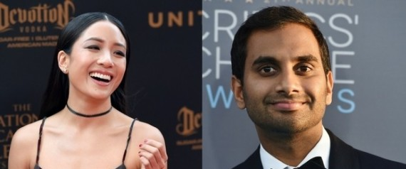 constance wu and aziz ansari
