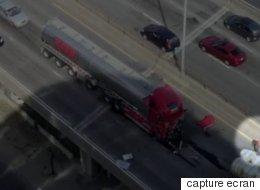 Un homme a tenté de sauver en vain le chauffeur du camion-citerne (VIDÉO)