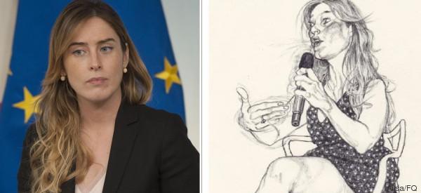 Il Pd contro il Fatto Quotidiano per una vignetta su Maria Elena Boschi: