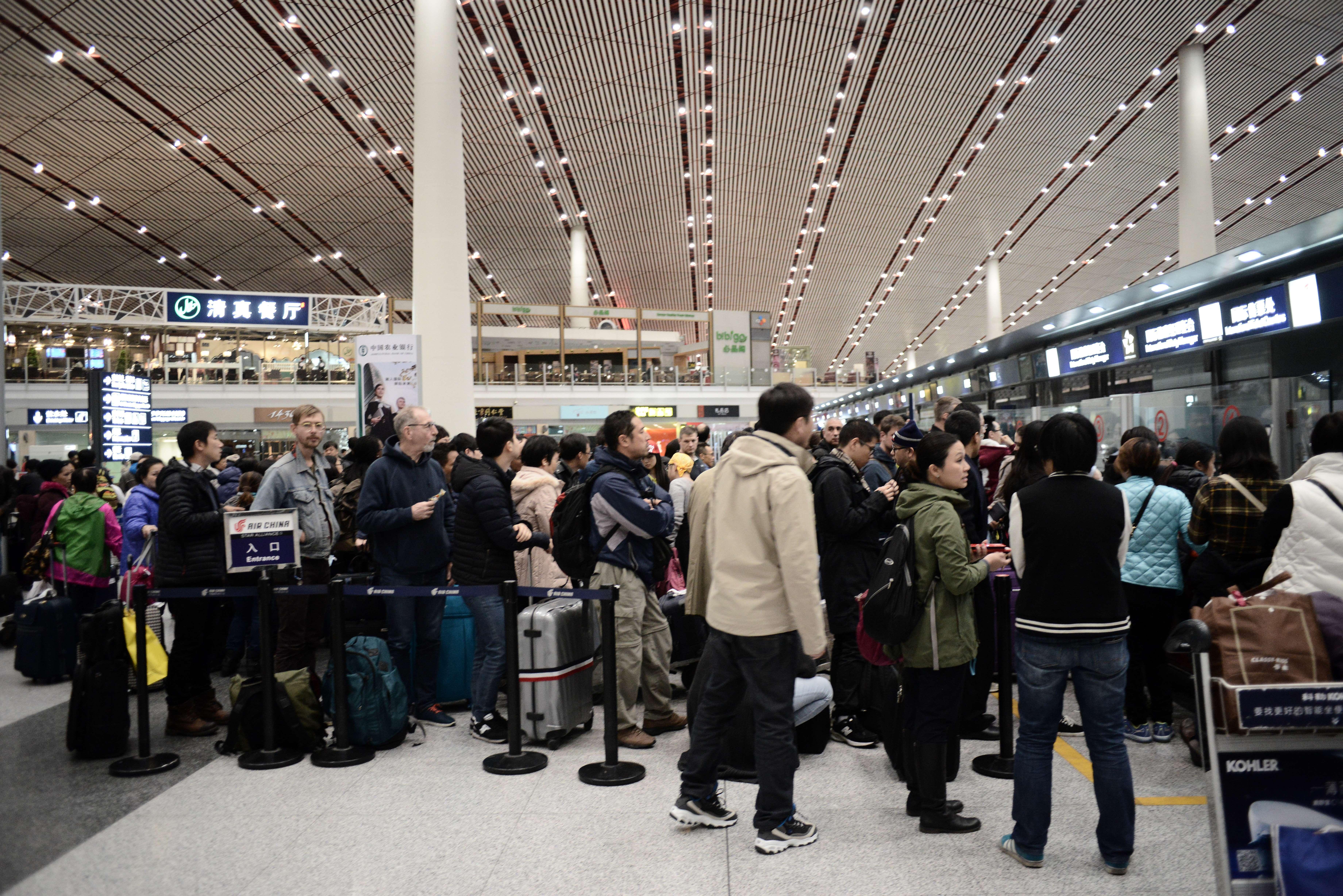 beijing airport passengers