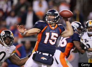 Tim Tebow Throw Broncos Steelers