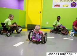 Toddler Is A Speed Demon In Homemade Wheelchair