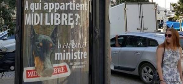 Ménard a trouvé une autre utilité aux espaces publicitaires de Béziers
