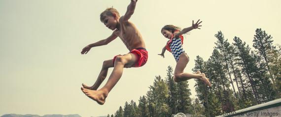 child jump