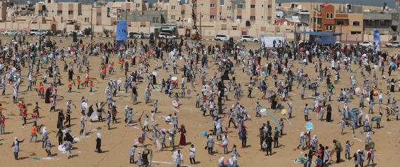 GAZA CHILDREN CROWD