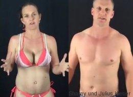 Dieses Paar nimmt mit Absicht zu - um sein Fitnessprogramm unter Beweis zu stellen