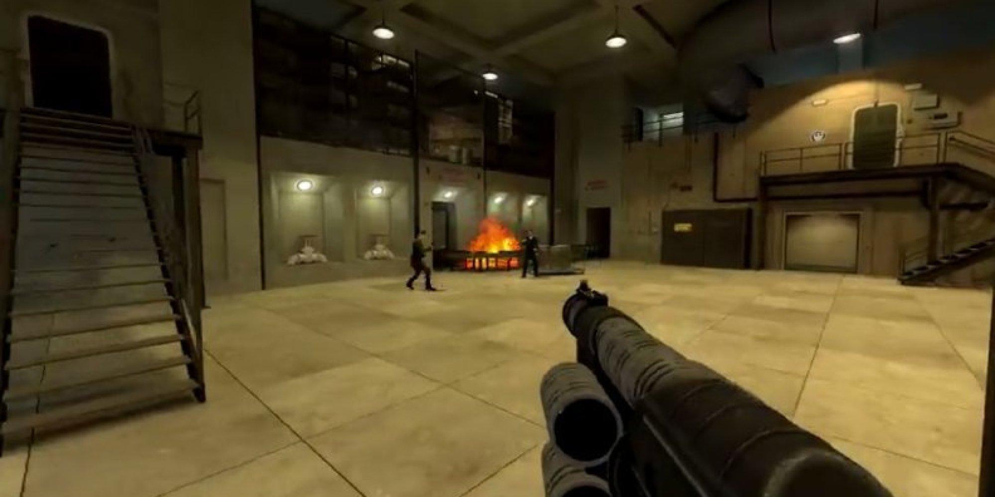 le jeu goldeneye 007 de nintendo 64 a son remake gratuit sur pc avec goldeneye source. Black Bedroom Furniture Sets. Home Design Ideas