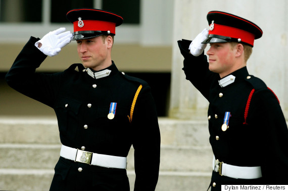 prince william harry sandhurst