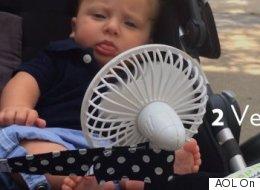 Genius Stroller Hack Keeps Baby Cool In Summer Heat