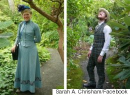Couple Booted From Victorian Gardens For Wearing Victorian Clothes