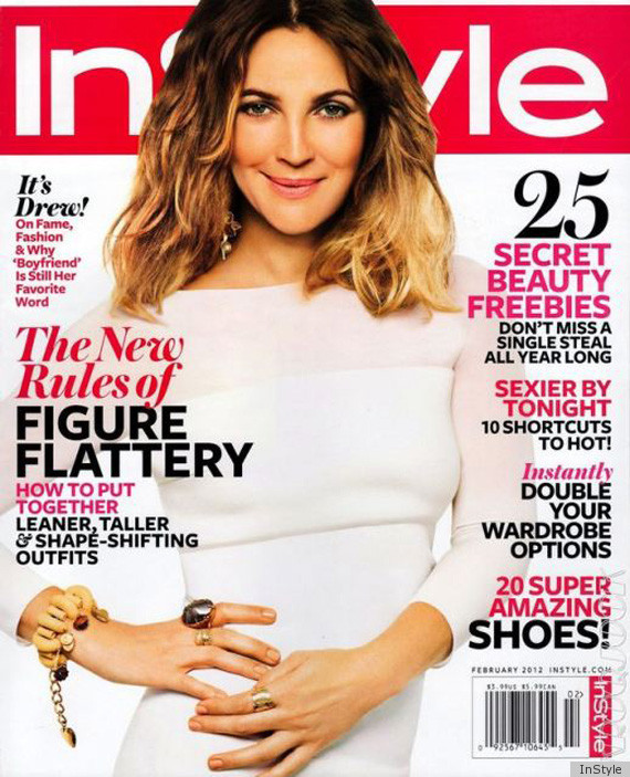 Drew barrymore photoshop mess on february 2012 instyle cover photo