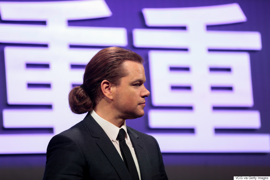 matt damon man bun