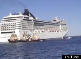 Cruise Ship Runs Aground