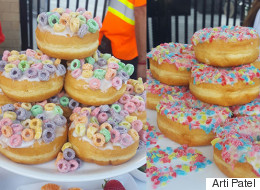 Tim Hortons' Fruit Loop And Jolly Rancher Doughnuts Taste Like Childhood