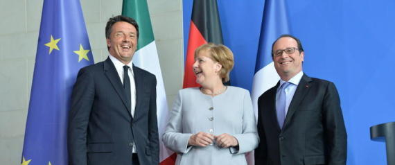 MERKEL RENZI HOLLANDE