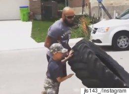 Ce soldat handicapé a rendu une visite touchante à ce petit garçon (VIDÉO)