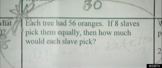 Slavery Math Problems